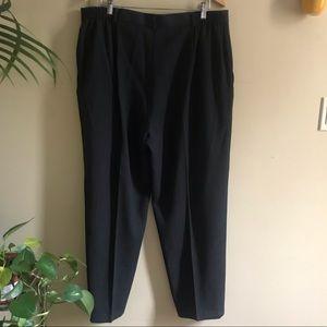 Vintage Plus Size High Waist Virgin Wool Pants